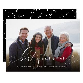 Bäst foto för helgdag för någonsin nytt år för år 12,7 x 17,8 cm inbjudningskort