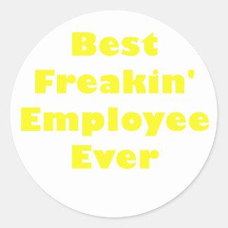 Bäst Freakin anställd någonsin Runt Klistermärke