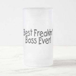 Bäst Freakin chef någonsin Frostad Glas Mugg
