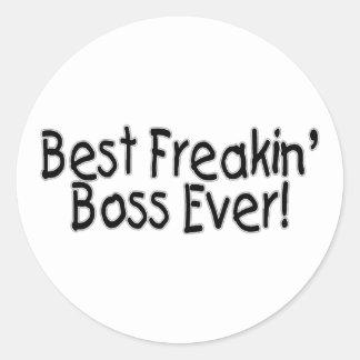 Bäst Freakin chef någonsin Runt Klistermärke