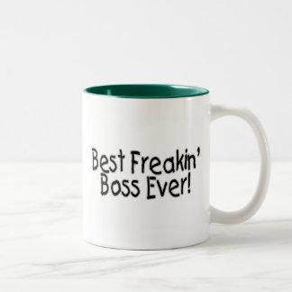 Bäst Freakin chef någonsin Två-Tonad Mugg