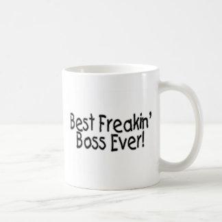 Bäst Freakin chef någonsin Vit Mugg