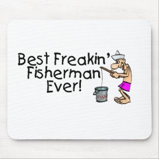 Bäst Freakin fiskare någonsin Mus Mattor