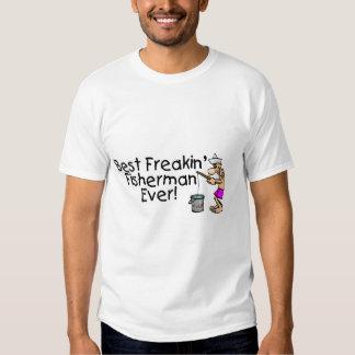 Bäst Freakin fiskare någonsin Tshirts
