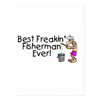 Bäst Freakin fiskare någonsin Vykort