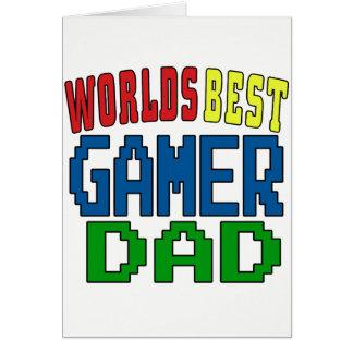 Bäst Gamerpappa för världar Hälsningskort