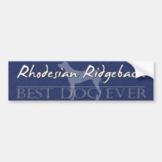 Bäst hundRhodesian Ridgeback bildekal
