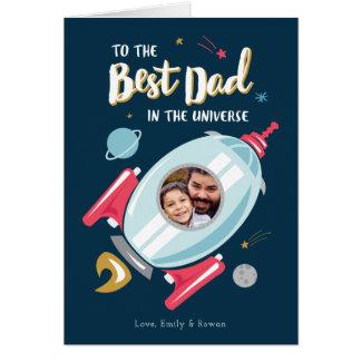 Bäst i universumfars dagkortet hälsningskort