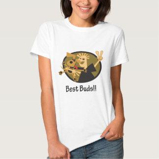 Bäst knoppar man och hund tshirts