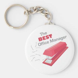Bäst kontorschef rund nyckelring