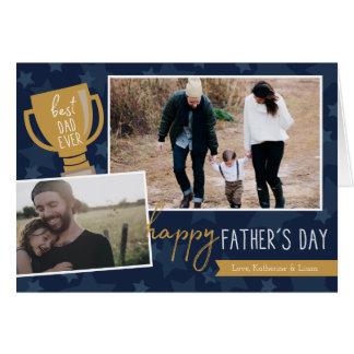 Bäst kort för hälsning för pappautmärkelsefoto hälsningskort