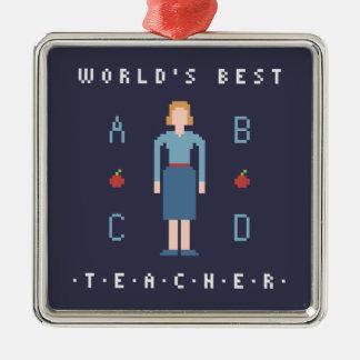 bäst lärare för stil 8Bit Julgransprydnad Metall