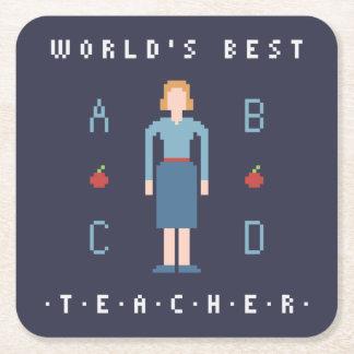 bäst lärare för stil 8Bit Underlägg Papper Kvadrat
