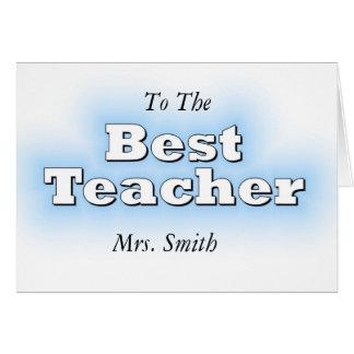 Bäst lärare hälsningskort