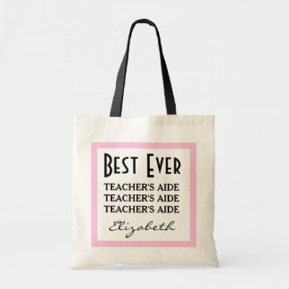 Bäst lärare medhjälpare någonsin någon känsla A01 Tote Bags