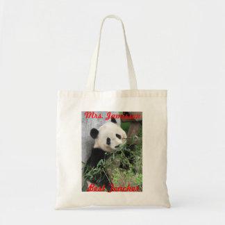 Bäst lärarekanfas hänger lös, pandaen, tack budget tygkasse