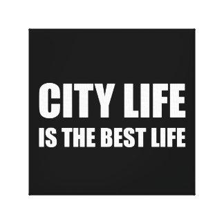Bäst liv för stadsliv canvastryck