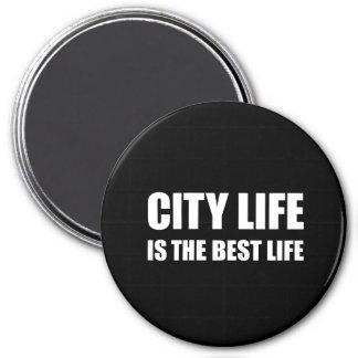 Bäst liv för stadsliv magnet rund 7.6 cm