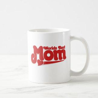 Bäst mamma för världar vit mugg