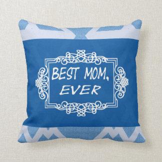 Bäst mamma varje marinblå mors daggåva kudde