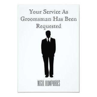 Bäst man- eller Groomsmaninbjudan 8,9 X 12,7 Cm Inbjudningskort