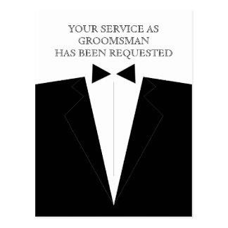 Bäst man- eller Groomsmanvykortinbjudan Vykort
