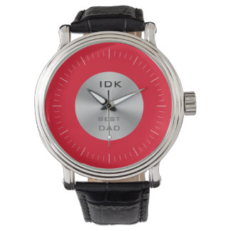 BÄST monogram för PAPPA | och redigerbar färg Armbandsur