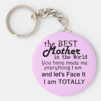 Bäst mor i världen rund nyckelring