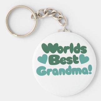 Bäst mormor för världar rund nyckelring