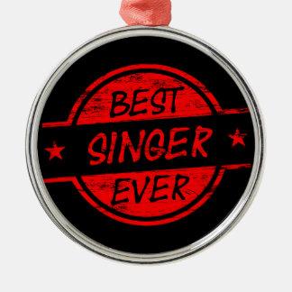 Bäst någonsin röd sångare julgransprydnad metall