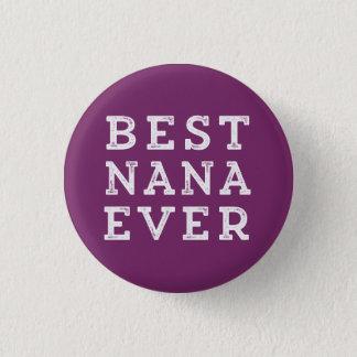 Bäst Nana någonsin Mini Knapp Rund 3.2 Cm
