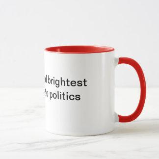 Bäst och ljusast gå inte in i politik mugg