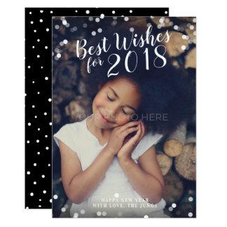 Bäst önskemål för Calligraphy fotokortet för nytt 12,7 X 17,8 Cm Inbjudningskort