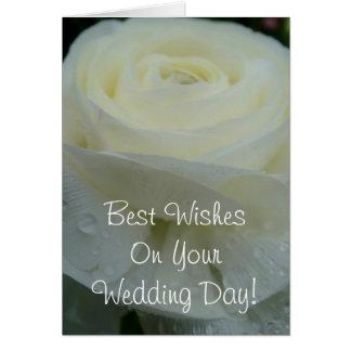 Bäst önskemål på din bröllopsdag hälsningskort