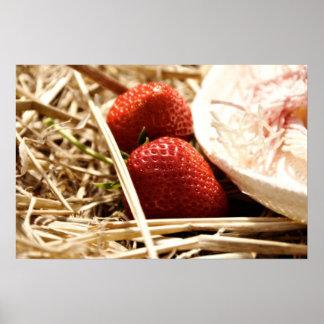 Bäst original- jordgubbefoto på kanfas affisch