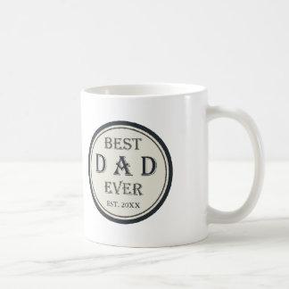 Bäst pappa någonsin EST. anpassningsbar för Kaffemugg