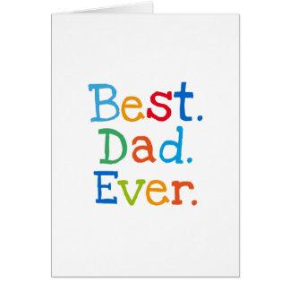 Bäst pappa någonsin hälsningskort