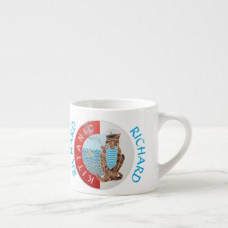 Bäst pojkvän för personligkaffemugg med katten espressomugg