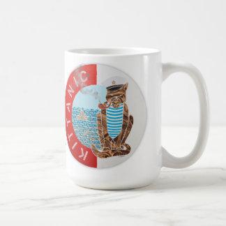 Bäst pojkvän för personligklassikermugg med katten kaffemugg