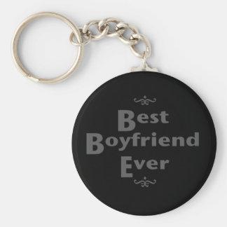 Bäst pojkvän någonsin rund nyckelring