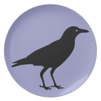 Bäst prisa spöklika svart kråkalilor Halloween Dinner Plates