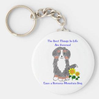Bäst saker för Bernese berghund i liv Keychain Rund Nyckelring