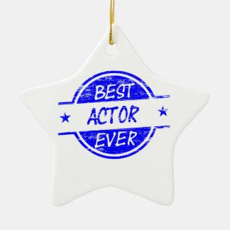 Bäst skådespelare någonsin Blue.png Julgransprydnad Keramik