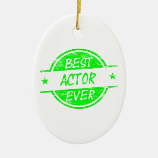 Bäst skådespelare någonsin Green.png Julgransprydnad Keramik