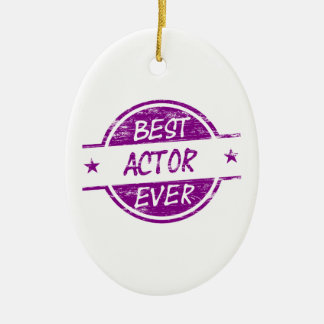 Bäst skådespelare någonsin Purple.png Julgransprydnad Keramik