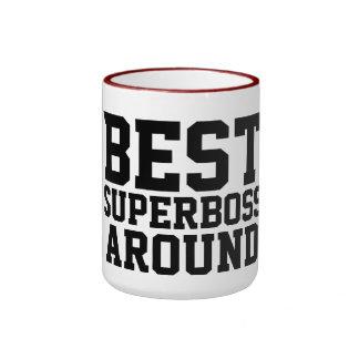 bäst superboss omkring kaffe muggar