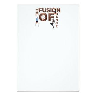 BÄSTA fusion av dansen 12,7 X 17,8 Cm Inbjudningskort