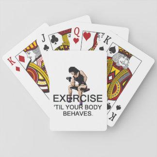 BÄSTA öva, Til ditt förkroppsliga uppför Spelkort