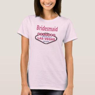 Bästa Paris rosa Las Vegas brudtärna Tee Shirts
