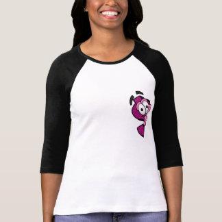 Bästa rosa sleeve för Leoparddesign 3/4 T-shirts